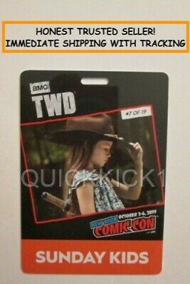 2019 NYCC NEW YORK COMIC CON SUNDAY OCTOBER 6 KIDS TICKET PASS BADGE IN HAND