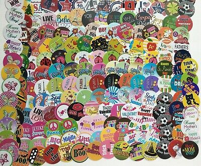 PRECUT 350 ct- - 1 Assorted Bottle Cap Images Christmas Valentine 4th Of July