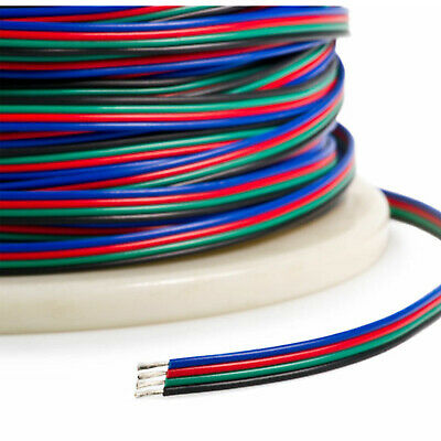 4-PIN RGB Extension Connector Wire Cable Cord For 35285050 RGB LED Strip Light