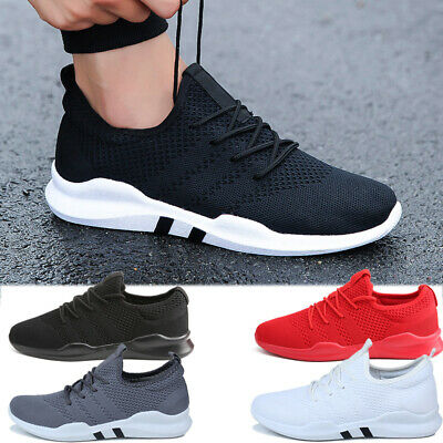 Mens Non Slip Sneakers Breathable Athletic Running Walking Tennis Shoes Workout