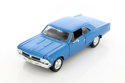 1966 CHEVY CHEVELLE SS396 BLUE 124 SCALE DIECAST CAR BY MAISTO 34960BU