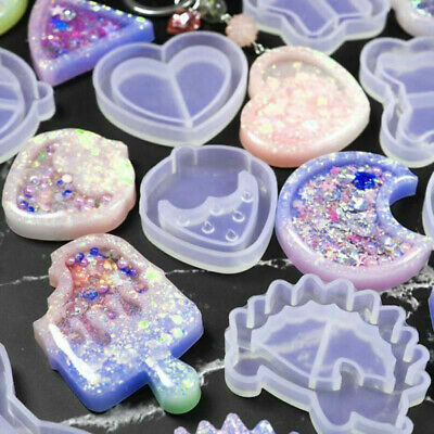 Key Chain Charms Mold Kawaii Strawberry Shaker Silicone Epoxy Resin Shaker DIY