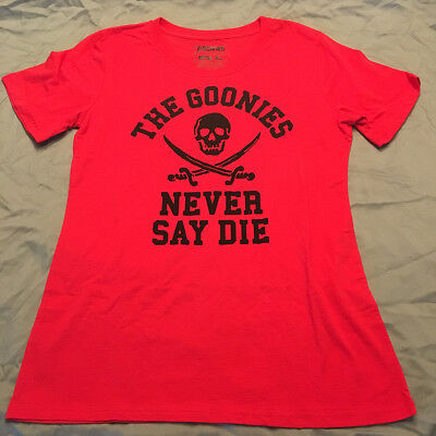 Goonies Never Say Die - Womens XL T-Shirt - NEW Loot Crate CottonPoly