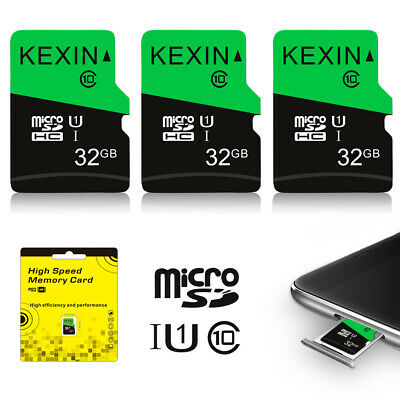 3Pack 32GB Micro SD TF Card SDXC Class 10 Flash Memory Card For Phone Camera