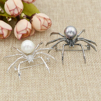 Animal Pearl Brooch Spider Alloy Pin Party Costume Jewelry Ornament Decor USA