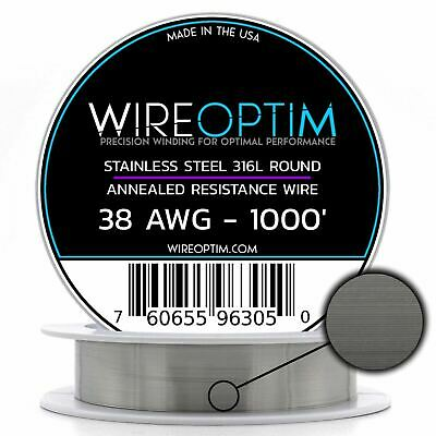 Stainless Steel 316L Wire 22 23 24 25 26 27 28 32 34 36 38 40 AWG 25 - 1000