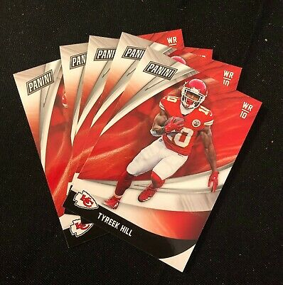 5 Card Lot-  2018 Panini Black Friday Football Tyreek Hill  Lot Of 5