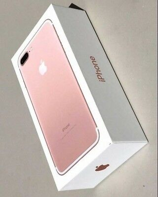 NEW Genuine Empty RETAIL Box For Apple iPhone 7 32GB Rose Gold - No Device