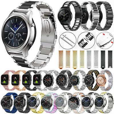 2022mm Quick Release Stainless Steel Metal Watch Band Link Bracelet Wrist Strap