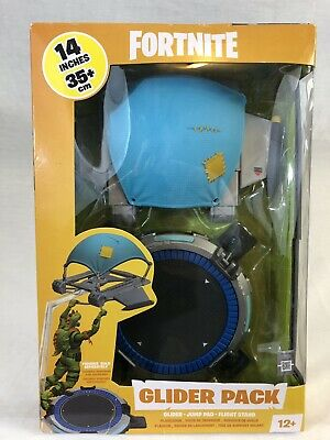 FORTNITE BATTLE ROYALE GLIDER PACK 14 IN WITH GLIDER JUMP PAD FLIGHT STAND