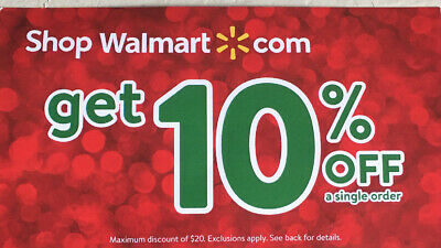 WALMART 10 off 5 MINUTE E DELIVERY CHEAPEST 20 SAVINGS