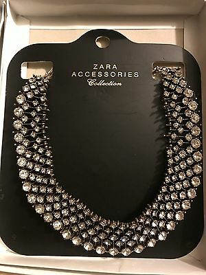 Zara Rhinestone Necklace As Seen On Kate Middleton