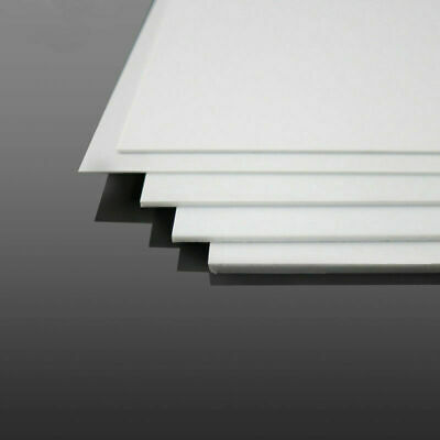 White ABS Plastic Sheet Panel DIY Model Craft Thickness 1mm2mm3mm4mm US STOCK