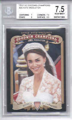 KATE MIDDLETON 2012 UD Goodwin Champions BGS 7-5 w9-5 Sub DUCHESS OF CAMBRIDGE