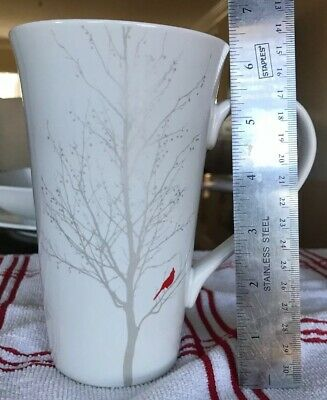 222 Fifth Winter Cardinal Latte Mug Abt 6 12 Inches Tall