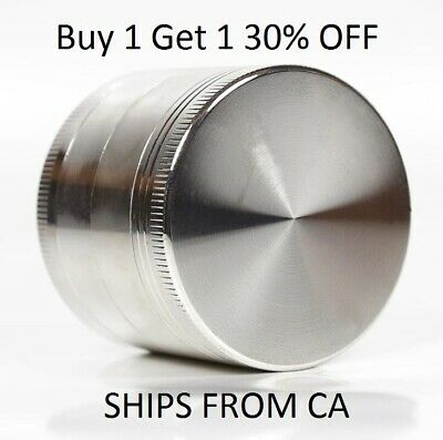 Tobacco Herb Grinder Spice Herbal 4 Piece Metal Chromium Alloy Smoke Crusher
