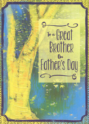 Yellow Tree with Gold Foil Border Fathers Day Card for Brother