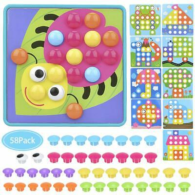 Kids Art Activity Set-Discover Button Art and Craft Activity Kit for Kids Gift