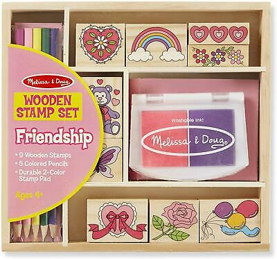 Kids Toys Wooden Stamp Set- Great Xmas Gift for Girls - Boys - Best for Ages 4-