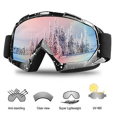 Snow Ski Goggles Anti-Fog UV Lens Snowboard Snowmobile Motorcycle For Men Women