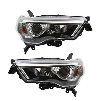 Fits 14-19 Toyota 4Runner Set Combination Headlamps Left - Right Headlight Units