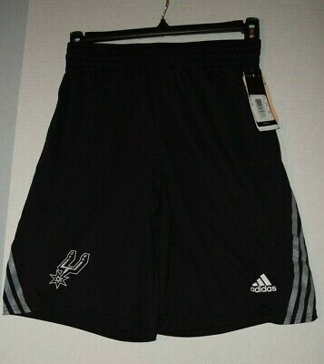 New Adult Size Black Adidas San Antonio Spurs NBA Shorts Size S-XXL New With Tag