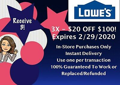 LOWES 30 off 50 x 1COUPON - IN-STORE ONLY - FAST-E-DELIVERY