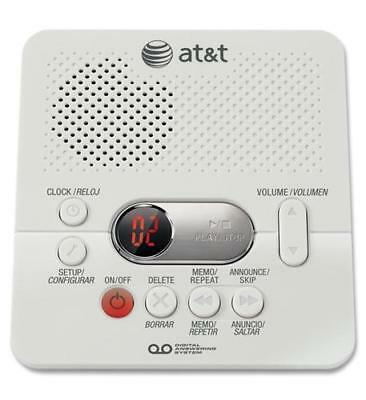 AT-T 1740 Digital Answering Machine System 60 Minutes Remote Access Telephone