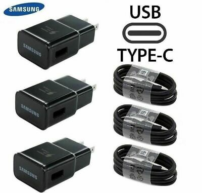 For Samsung Galaxy Note10 S8 S9 S10 Plus OEM 3-0 Fast Wall Charger Type-C Cable