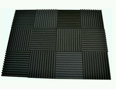 12 pack Acoustic Foam Tiles   1 x 12 x 12 charcoal  FREE SHIPPING