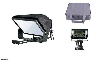 12 Adjustable Teleprompter for 10 Tablet-iPad-Smartphone- Strong - Lightweight