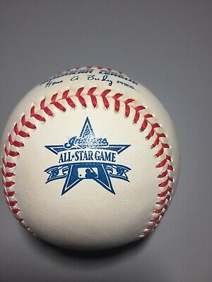 Rawlings 1997 All Star Official MLB Game Baseball Cleveland Indians In Cube