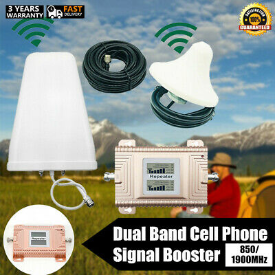 Dual Band Cell Phone Signal Booster Amplifier 8501900MHz High Gain 2G3G4G LTE