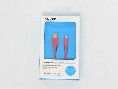 Anker 6 PowerLine Lightning to USB-A Round Cable - Red