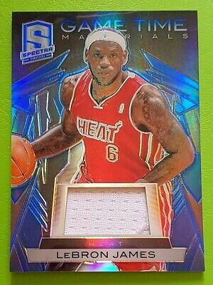LEBRON JAMES 2013-14 Panini Spectra Game Time Materials ed 1115 Super Rare SP☀