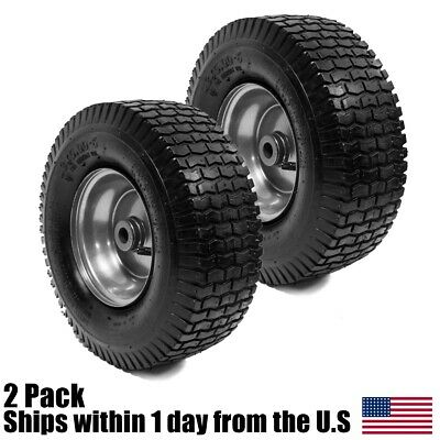 2PK 13x5-00-6 Turf Tire - Rim Assembly for Lawn - Garden Tractors Golf Carts