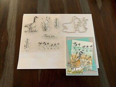 clear stamp GOOSE - MATCHING DIES shore birdsreedsthinking of you lot - card