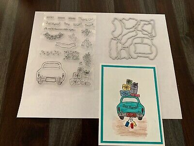 clear stamp WONDERFUL - MATCHING DIES christmasweddingcargifts NEW lot - card