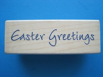 EASTER GREETINGS - Hero Arts Rubber Stamp - Spring HAPPY EASTER