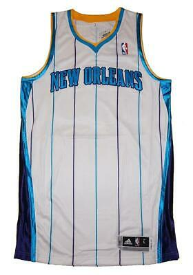 New Orleans Hornets NBA Adidas Mens White Authentic Jersey - L XL