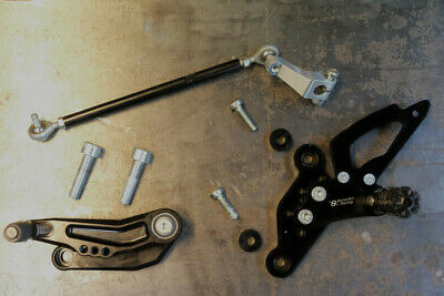 Commandes reculées Yamaha MT-07 Rear set controls Yamaha FZ-07 Bonamici Y010
