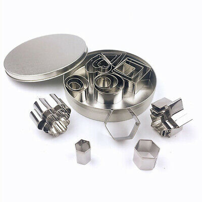 24x Polymer Clay Cutter Stainless Steel Geometry DIY Baking Tool Cutting Mold