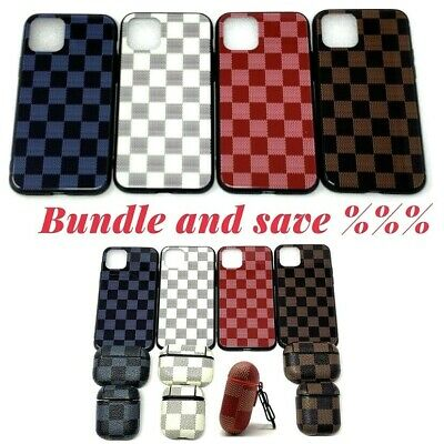 luxury checkered Design Cover For iPhone 11 Pro Max X  XS XR Protective Case