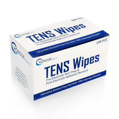 1 Box of 100 MEDIUM Sterile Alcohol Prep Pad Wipes topical antiseptic-Tenswipes