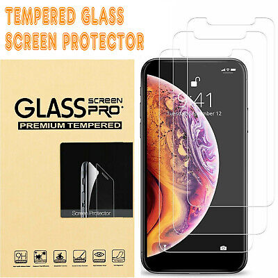 For iPhone 11 Pro Max XS XR X 8 Plus 7 6 6S 5 Tempered Glass Screen Protector