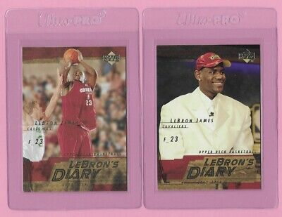 2003 LEBRON JAMES Upper Deck ROOKIE LOT 2 Lebrons Diary SEE DETAILS