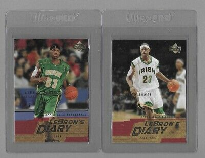 2003 LEBRON JAMES UD ROOKIE LOT 2 Lebrons Diary cards 1 2-SEE DETAILS