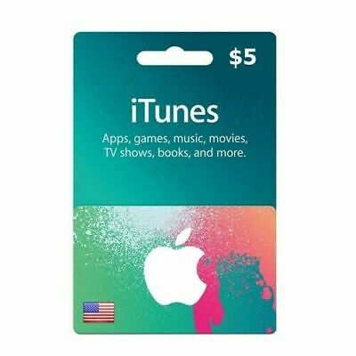 Itunes Gift Card 5 USD  American USA