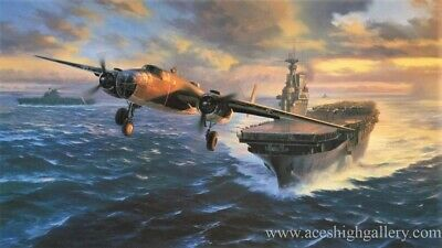 TOKYO BOUND by Nicolas Trudgian aviation art signed by six Doolittle Raiders