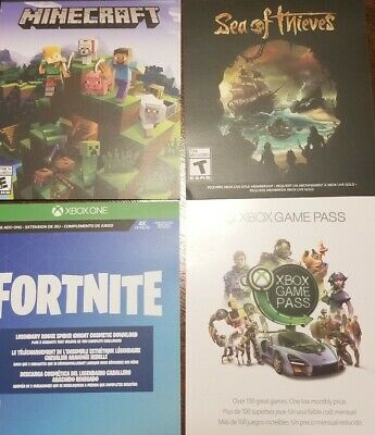 Digital Xbox One Fortnite- Mindcraft - Sea of Theives- 3 games plus Game Pass